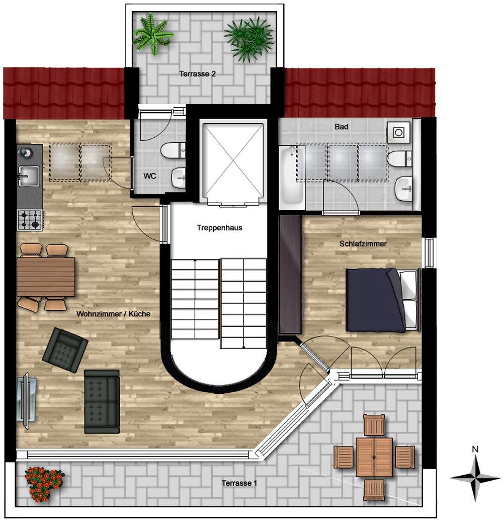 wohnen im herzen von poing poing ibs massiv bauhaus. Black Bedroom Furniture Sets. Home Design Ideas