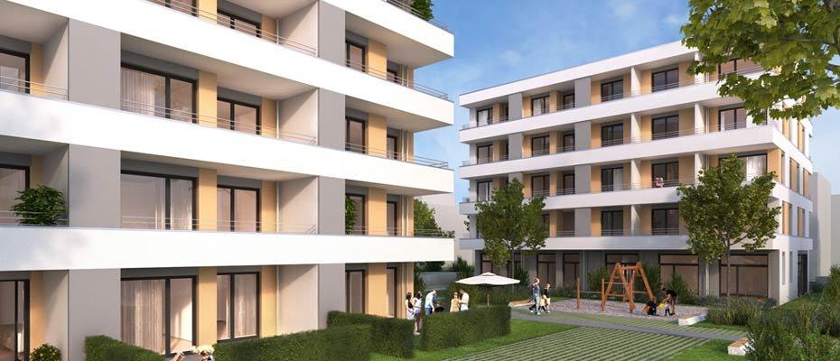 Letzter Bauabschnitt: Quartier an den alten Zollhallen - Neubau von 16 Eigentumswohnungen