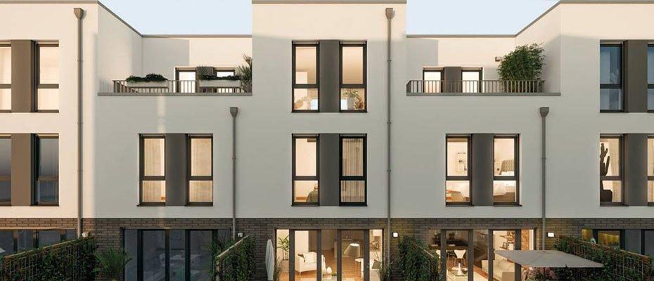 2. Februar 2020: Eröffnung des smarten Muster-Townhauses in ASPELOHE - Neubau von Eigentumswohnungen