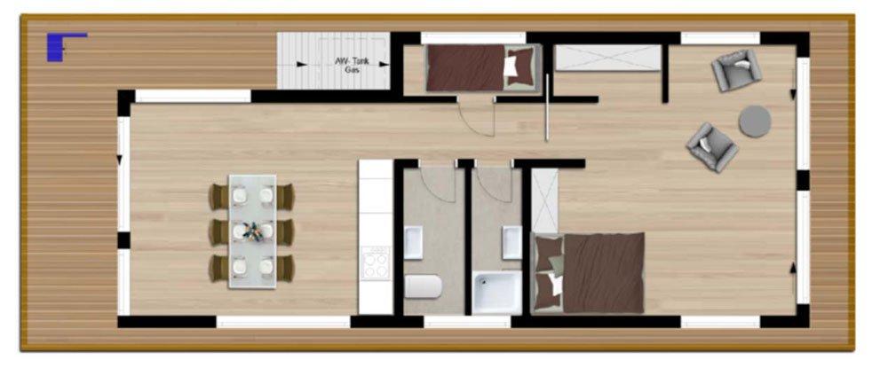 grundrisse und pl ne vom bauvorhaben hausboote neuruppin. Black Bedroom Furniture Sets. Home Design Ideas