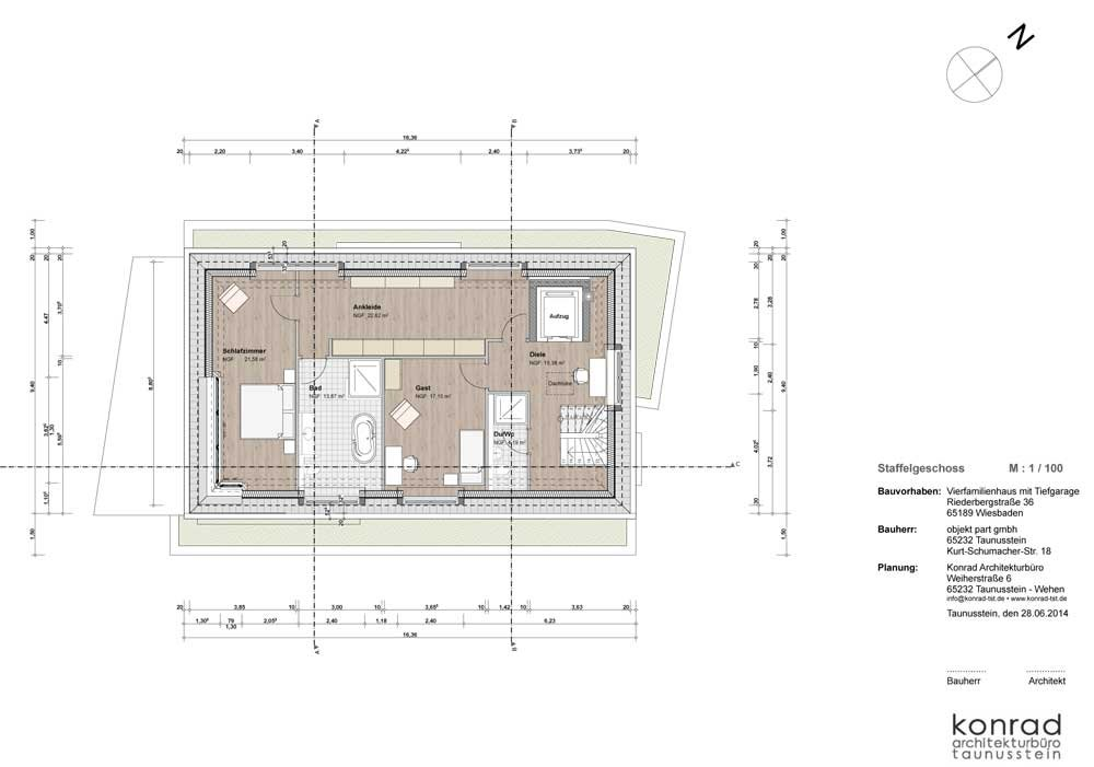 penthaus maisonette riederbergstra e 36 wiesbaden nordost uhlmann immobilien neubau. Black Bedroom Furniture Sets. Home Design Ideas