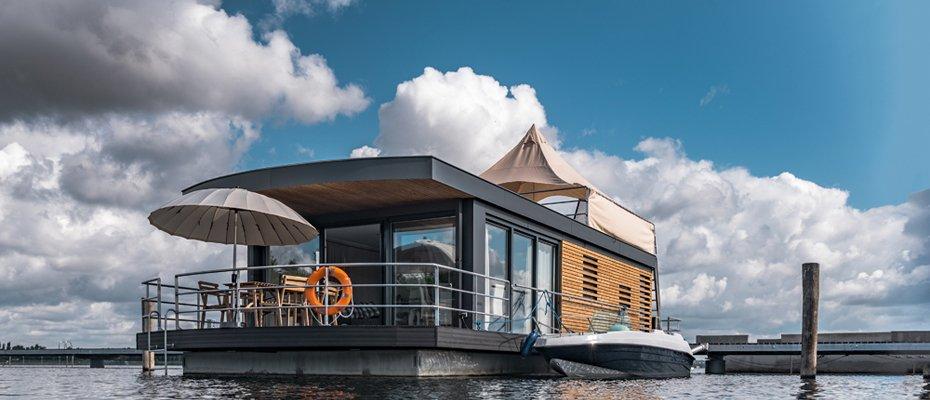 Schwimmende Häuser am Brombachsee - über 80% verkauft - Neubau von schwimmenden Ferienhäusern zur Kapitalanlage