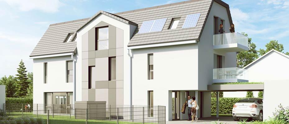 Neubau Göttinger Landstraße 30a: 2 Maisonettewohnungen - Neubau von 2 Eigentumswohnungen