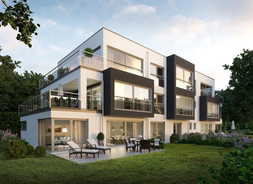 Visualisierung Neubau Eigentumswohnungen Main Home in Sachsenhausen Frankfurt am Main