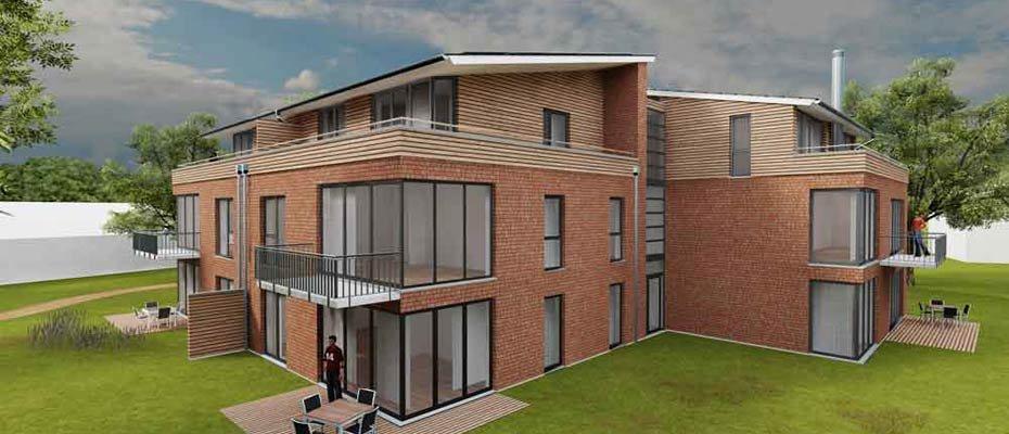 Neubau nahe der Nordsee: Grüne Insel - Neubau von 39 Eigentumswohnungen
