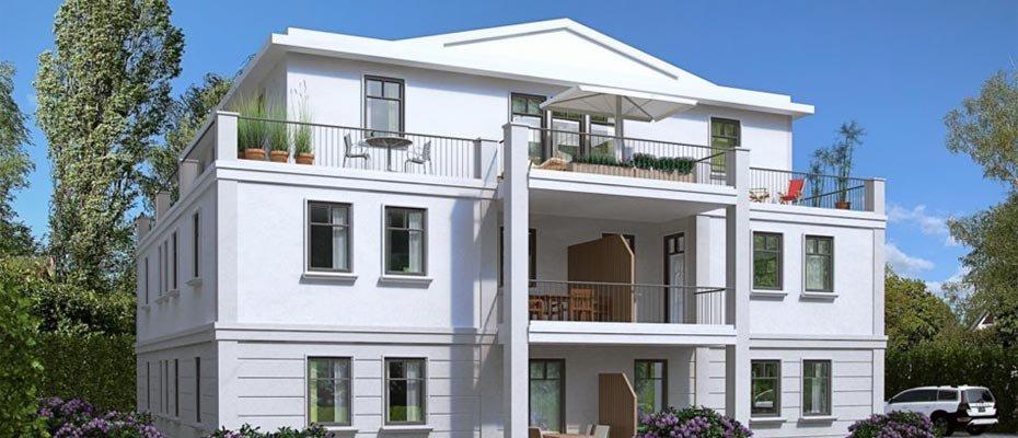 Neues Stadthaus im Buschredder 7 - Neubau von 5 Eigentumswohnungen