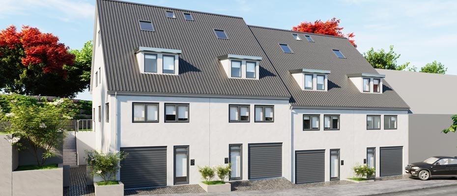 Neubauprojekt LIVING4: familienfreundliche Reihenhäuser - Neubau von 4 Reihenhäusern