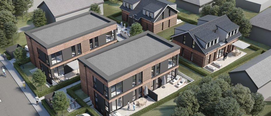 Schützenquarree Reinbek: Familienfreundliche Neubau-Domizile mit Garten - Neubau von 4 Maisonettewohnungen und 2 Einfamilienhäusern