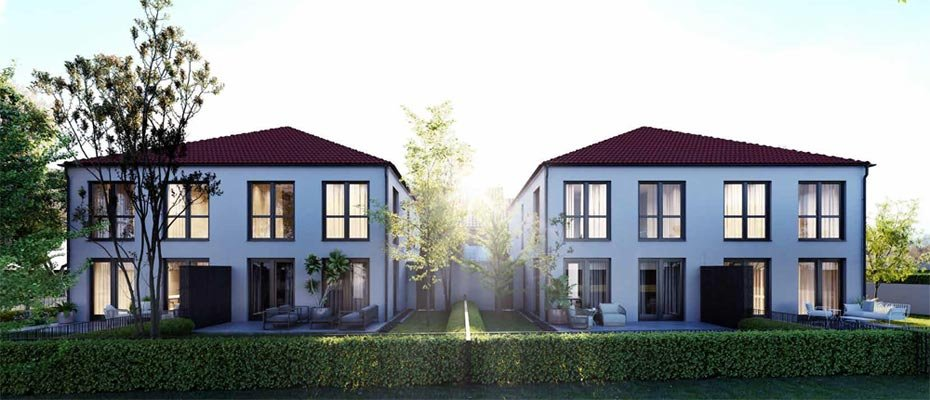 Neubau: DOMUS Toskana Schwabmünchen - Neubau von 4 Dopppelhaushälften