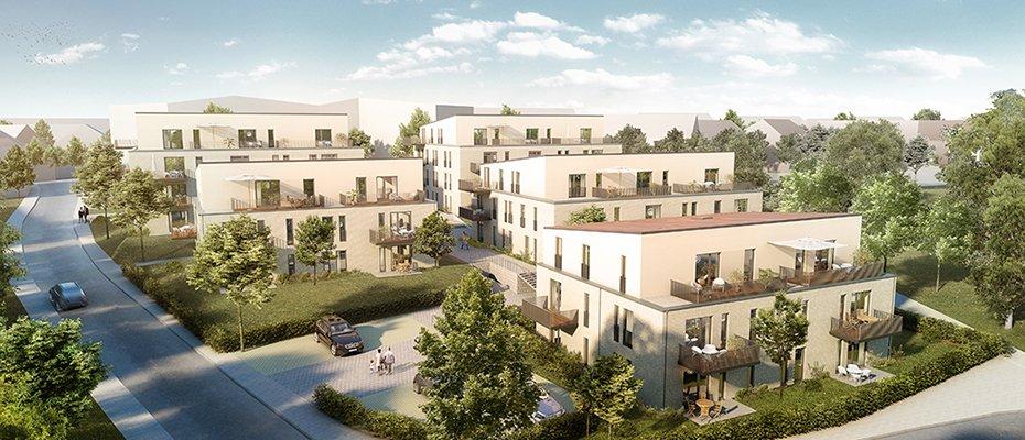 Neubau: Wohnen an der Apfelwiese - Neubau von 64 Eigentumswohnungen