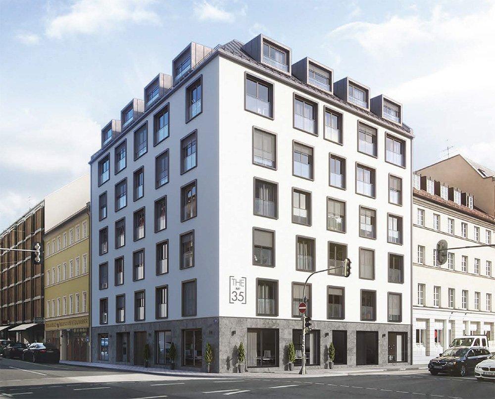 Visualisierung Neubauprojekt The No. 35, Eigentumswohnungen München Maxvorstadt