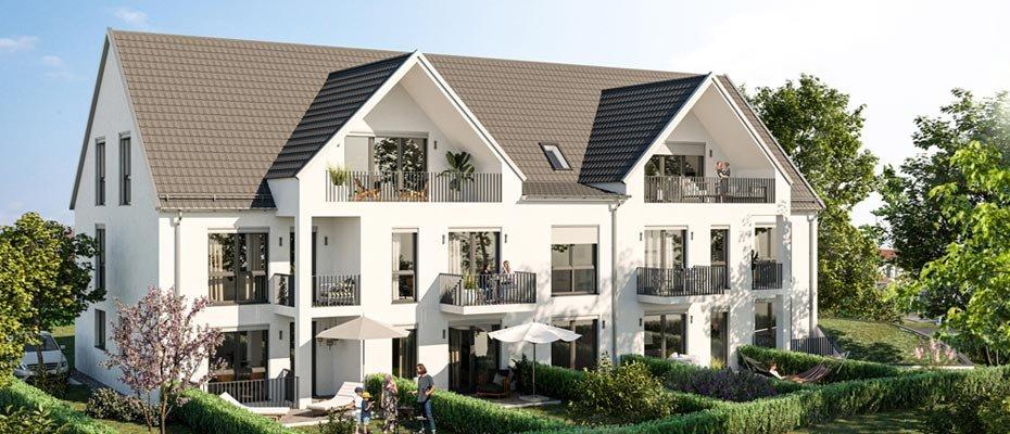 Neubauprojekt: City-Häuser Gersthofen - Neubau von 4 Stadthäusern und 3 Eigentumswohnungen