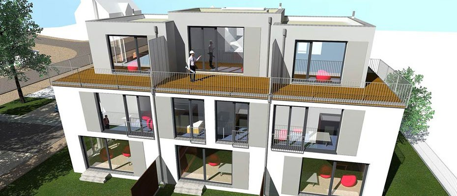 Neubau: Kurt-Tucholsky-Straße 47 - Neubau von 3 Reihenhäusern