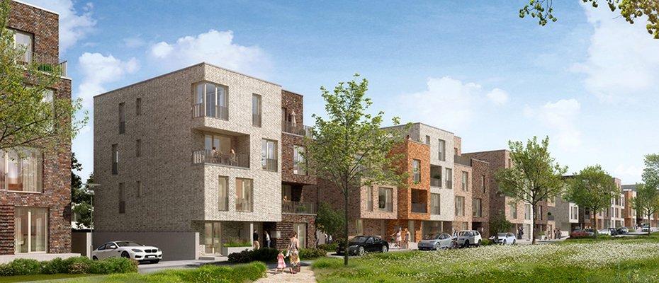 """Vertriebsstart in Kürze: Wohnquartier Jenfelder Au """"Am Kaskadenpark"""" - Neubau von 72 Eigentumswohnungen und 10 Stadthäusern"""