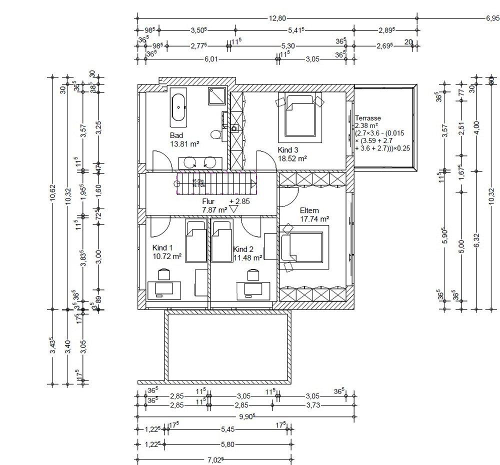Grundrisse und Pläne vom Bauvorhaben infamilienhaus München-rudering size: 1000 x 930 post ID: 4 File size: 0 B