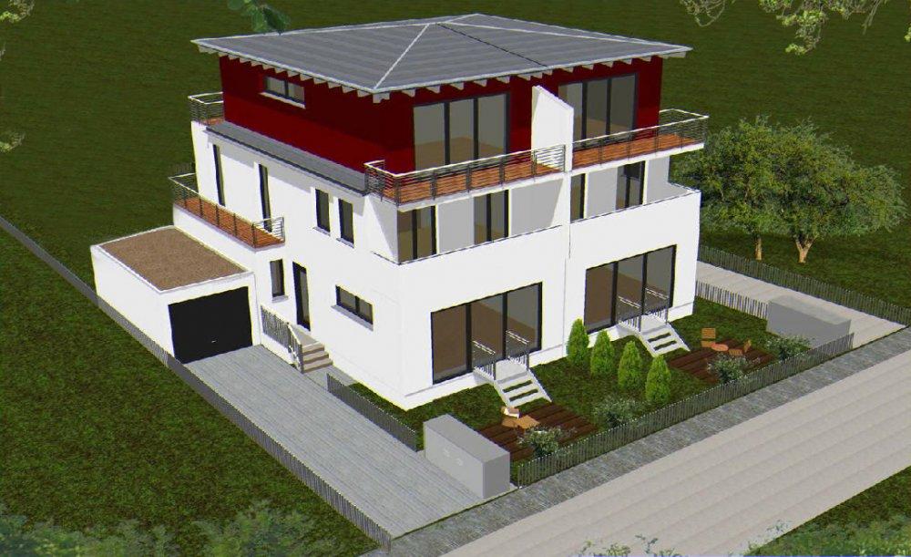 doppelhaus simrockstra e 46 m nchen moosach praml bau neubau immobilien informationen. Black Bedroom Furniture Sets. Home Design Ideas