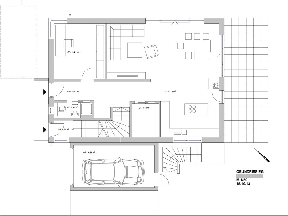 Grundrisse und pl ne vom bauvorhaben einfamilienhaus in for Grundriss neubau einfamilienhaus
