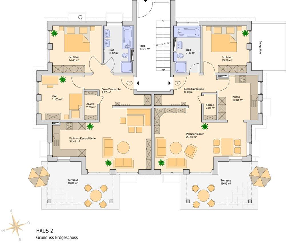 grundrisse und pl ne vom bauvorhaben mehrfamilienh user lechhausen. Black Bedroom Furniture Sets. Home Design Ideas