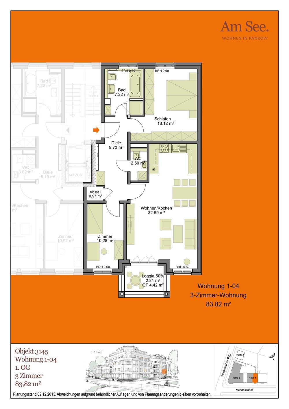 grundrisse und pl ne vom bauvorhaben am see berlin. Black Bedroom Furniture Sets. Home Design Ideas