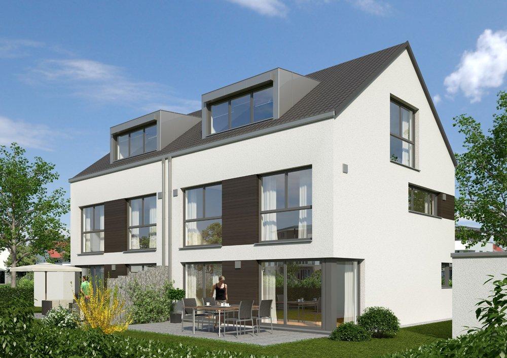 Doppelh user in krailling krailling h i i neubau for Doppelhaus moderne architektur
