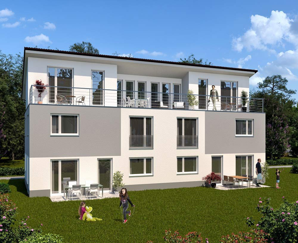 "Title picture: ecological and healthy-living design and construction methods are a feature of the new build real estate development project ""Green Living Kelkheim"" from property developer schuettke.immobilien"