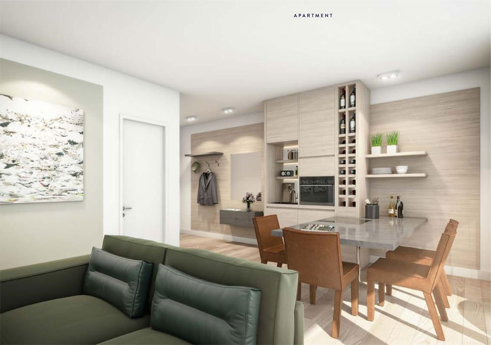 """Outfitting & furnishing in 'standard' German apartments"" - Title picture: upscale outfitting is standard in the new build property development project ""Maremüritz"" from 12.18. Investment Management."