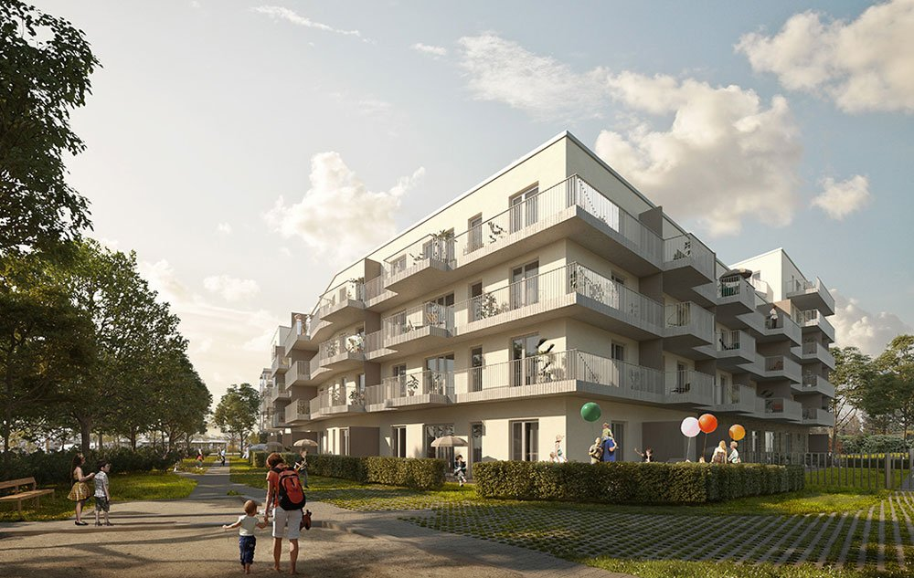 """Real estate investment in Germany: a beginners' guide"" – Title picture: new build property development project ""Glücksgefuhl Germering"" in Munich-Germering by CONCEPT Bau GmbH."