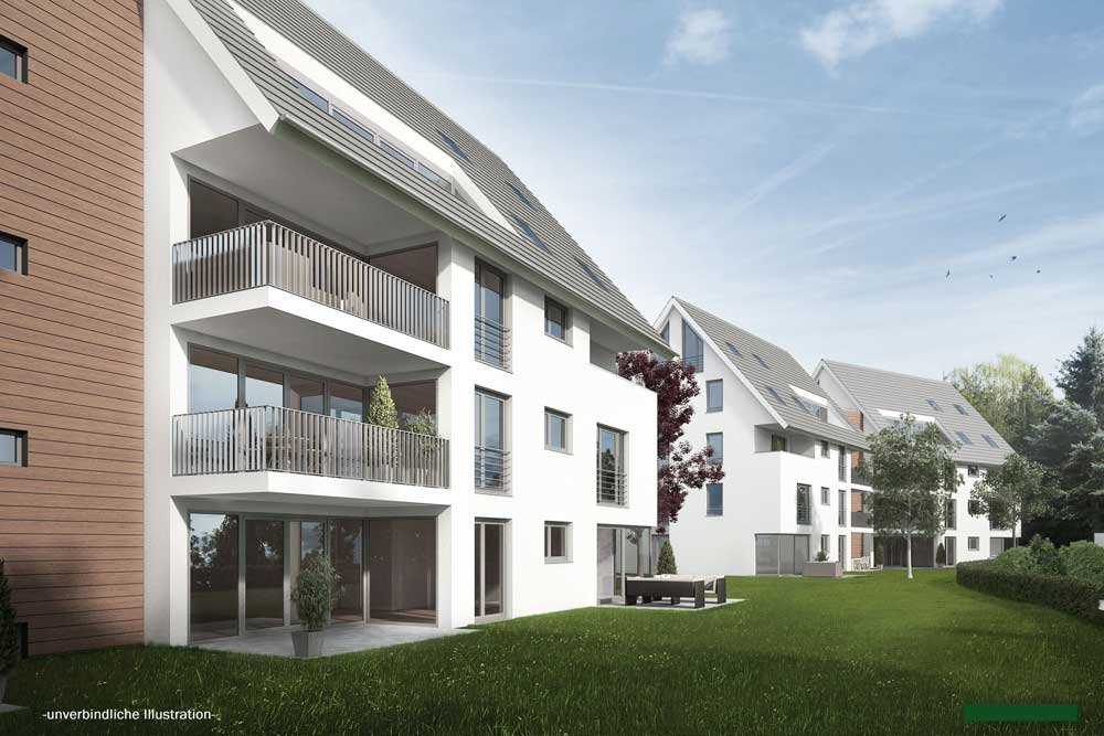 "Title picture: ""General tips for buying real estate in Germany"": new build condominiums in the Römergärten property development project in Stuttgart / Bad Cannstatt – sold out!"