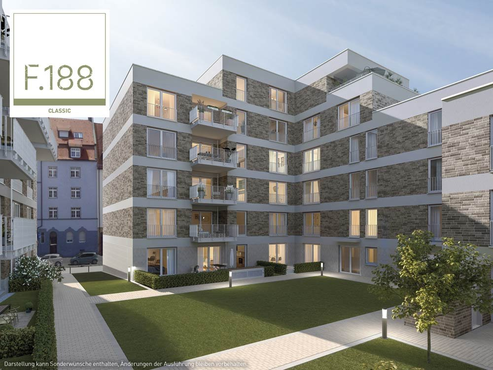 """State-funded geothermal energy for new build real estate"" - F.188 Nuremberg uses district heating and meets stringent KfW-55 energy efficiency standards."