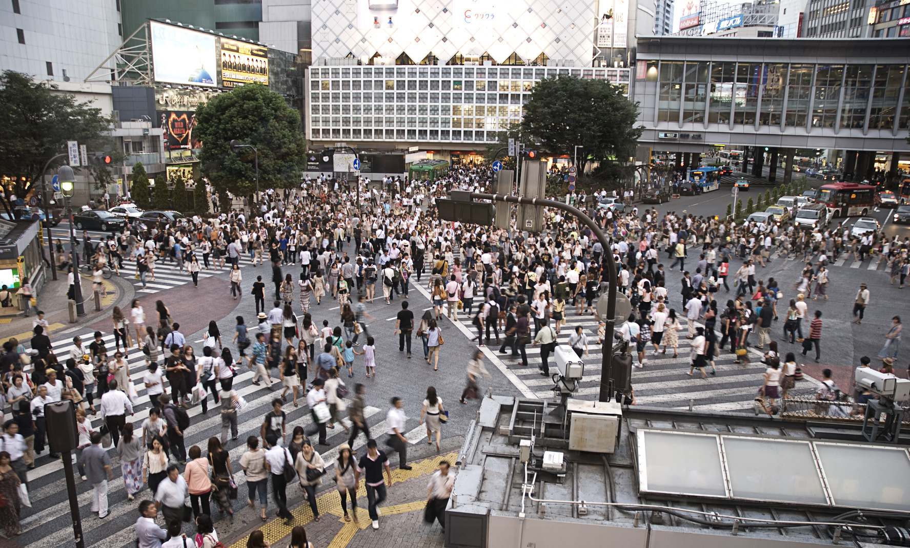 """Noise protection in new build real estate"" - Tokyo Shibuya Crossing Rushhour"