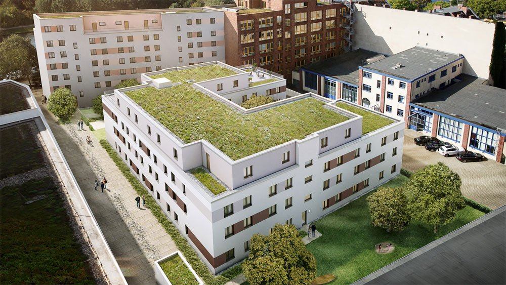 "Microapartments at the ""SMARTments Student"" new build property development project from GBI WOhnungsbau are an exxample of co-living and shared spaces in action."
